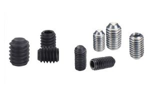 Hex Socket Set Screw Cup Point DIN916 with Carbon Steel Black Finished