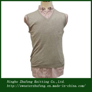 Men′s Silk/Cotton Sweater Vest NBZF0063