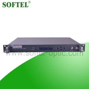 New Arrival 1550nm 1u Optical Fiber Amplifier Indoor 14dB Optical EDFA for CATV Network pictures & photos