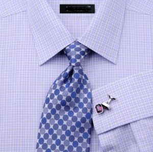 Business Men Plaid French Cuff Dress Shirt pictures & photos