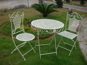 Old Vintage Metal Chairs Outdoor Furniture