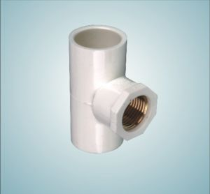 UPVC PVC Pipe Fittings Copper Female Screw Tee 006