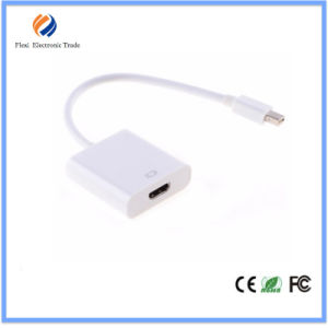 White Mini Dp to HDMI Cable with Chipset for MacBook Length 150mm China Supplier pictures & photos