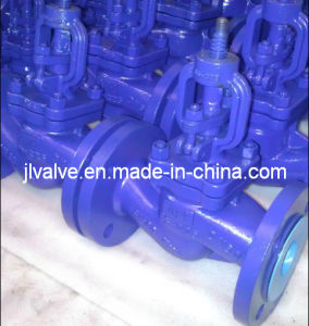 DIN Angle Globe Valve Flanged Connection Pn40 Dn15--Dn250 pictures & photos