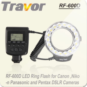 Travor New Macro LED Ring Flash RF-600d for Nikon/Canon/Olympurs