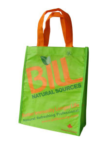 Gold PP Laminated Non-Woven Shopping Bags for Garments (FLN-9065) pictures & photos