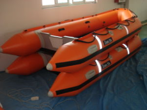 12.5 22. Feet Rubber Boat Hypalon Inflatable Boat Outboard Motor pictures & photos