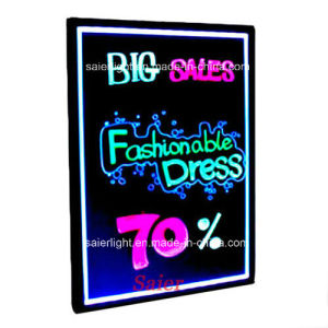 60*80cm Advertising LED Notice Writing Board