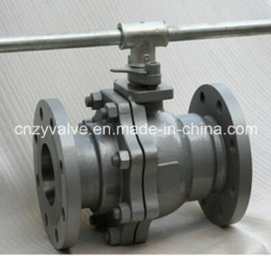 A216 Wcb Full Port Flange Ball Valve Level Hand Operated pictures & photos