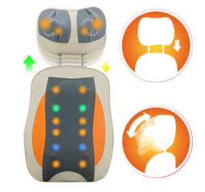 Electric Thai Shiatsu Kneading Recliner Neck and Back Massage Cushion pictures & photos