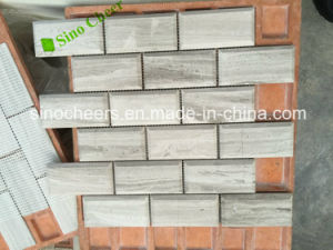 Wooden Gray /White Marble Mosaic Floor Wall Tile pictures & photos