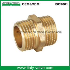 ISO9001 Certified Brass Forged Nipple/Pipe Fitting (AV9001) pictures & photos