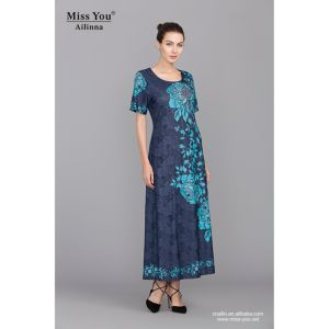 Miss You Ailinna 304707 Low Price Jacquard Cotton Dress Distributor Long Beaded Floral Dress pictures & photos
