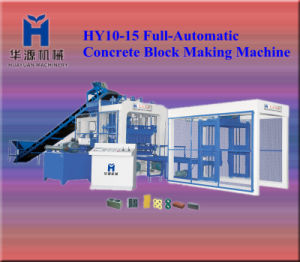 2013 Hy10-15 Full Automatic Concrete Block Making Machine 73440~97920 PCS/Shift