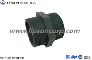 Lipson Plastic Pipe Fittings PVC Threaded Nipple pictures & photos