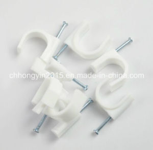 Hy-R-22 Circle Plastic Cable Clip with Nail 2.9*43 pictures & photos