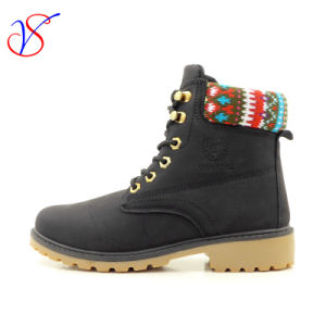 2016 New Style Women Work Boots Shoes for Job with Quick Release (SVWK-1609-031 BLK)