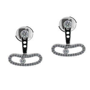 Move Dangle Earrings 925 Silver Jewelry Micro Setting Stone pictures & photos