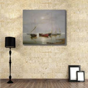 Oil Painting of Boats on Sea pictures & photos