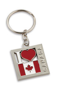 Zinc Alloy Metal Keychain for Canada Souvenir pictures & photos
