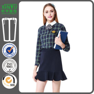 2016 100% Cotton School Uniform Custom Flannel Plaid Shirt pictures & photos