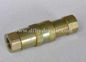 Flat Face Type Yellow Zinc Quick Coupling pictures & photos