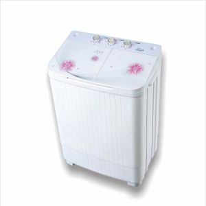Mini 4kgs Top-Loading Twin-Tub Glass Cover Clothes Washing Machine