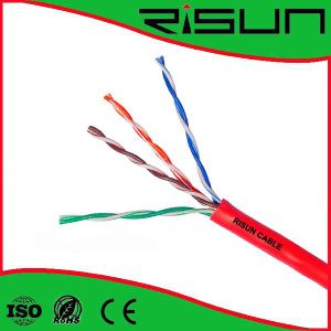 Red U/UTP Cat5e Ethernet Cable for Structured Cabling Needs Halogen Free pictures & photos