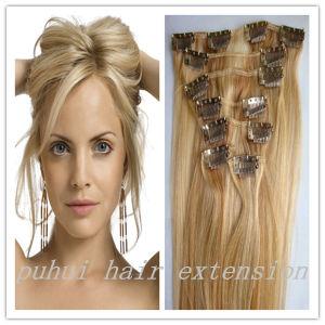 china 100 human hair blond clips on hair clip in hair
