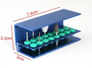 Rj122 Dental 16 Hole Bur Stand with Silicone Ring pictures & photos