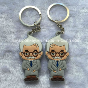 Custom Environmental Protection 3D Soft PVC Keychain pictures & photos