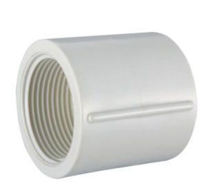 PVC-U BS Theraded Pipe Fittings Female Coupling (M45) pictures & photos