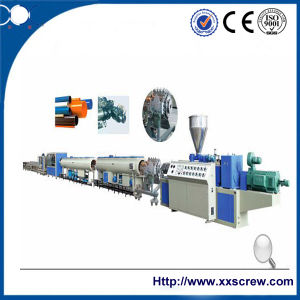 Conical Twin Screw Plastic PVC Pipe Extrusion Machine pictures & photos