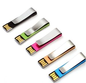 Metal Book Clip USB Flash Drive with Top UDP Chips pictures & photos
