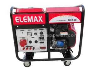 10kw 10kVA Double Cylinder Elemax Gasoline Generator Set pictures & photos
