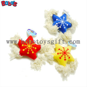 New Design Stuffed Star Pet Toy with Cotton Rope and Squeaker Bosw1072/15cm pictures & photos