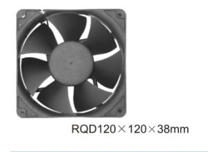 Low Price Small Size Black AC Fan 120X120X38mm pictures & photos