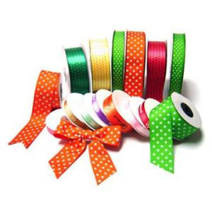 Factory Polka DOT Print Grosgrain Ribbon pictures & photos
