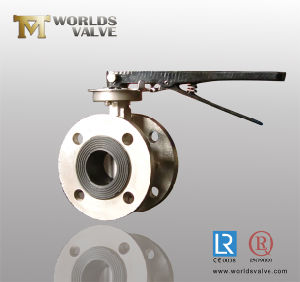 PTFE Lined Double Flanged Butterfly Valve with Ce&ISO&Wras (D341X-10/16) pictures & photos
