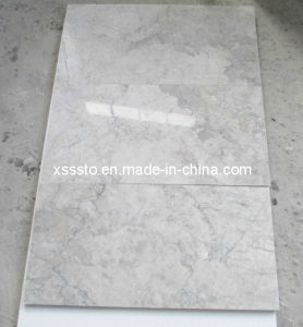 Polished Cyan Grey (Cyan Cream) Marble Tiles for Decoration pictures & photos