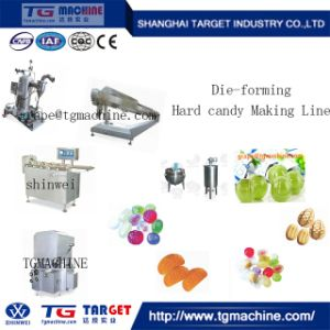 Two Colour Hard Candy Fruit Candy Making Line pictures & photos
