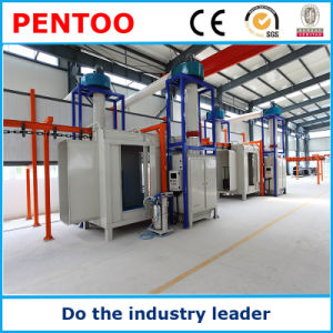 High Quality Ce Manual Powder Coating Booth for Car Wheel pictures & photos