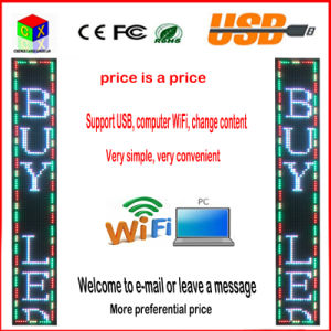 Outdoor 52′′x8′′ Inch 1/4 Scan RGB P10 Full Color LED Sign Support USB Computer WiFi Edit for Advertising Media LED Display pictures & photos