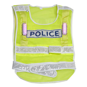 Light Soft Reflective Yellow Waistcoat for on Duty (FGY-256) pictures & photos