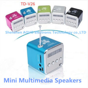 Td-V26 MP3 Player /Multimedia Mini Speakers with TF/USB/FM Radio