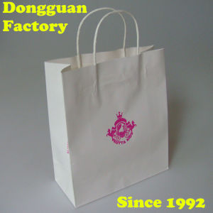 Best Price White Kraft Paper Bag with Twisted Handle or Flat Paper Handle pictures & photos
