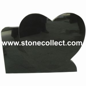 Shanxi Black Headstone with Carved Heart pictures & photos