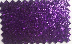 Glitter PU Leather for Shoes Gifts Bags Upholstery Hw-1707 pictures & photos