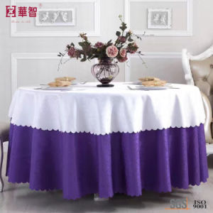Polyester Banquet Largt Tablecloth pictures & photos