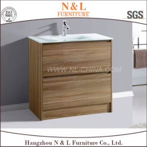 N&L 2017 Wall Mounted PVC Oak MDF Bathroom Vanity Cabinet pictures & photos